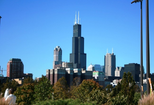 The unique building of the Sears Tower in Chicago 4