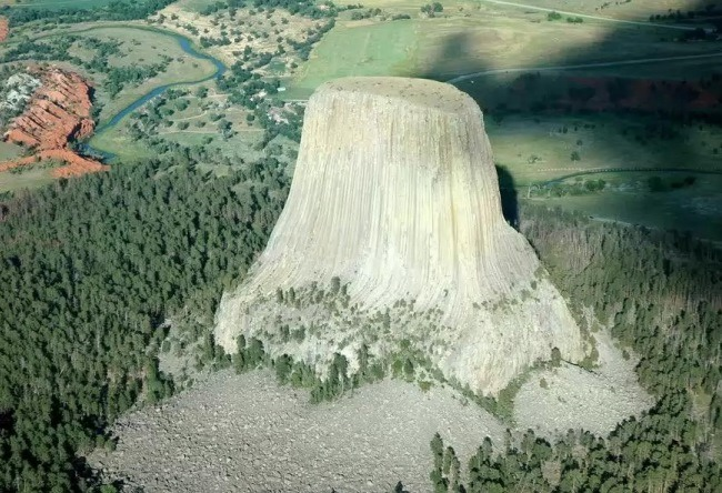 To get to the top or the Devils Tower 2