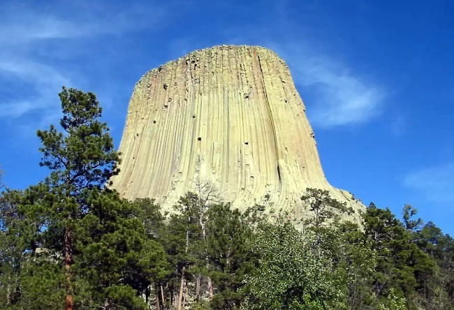 To get to the top or the Devils Tower 4