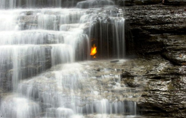 Eternal Flame Falls in Buffalo 5