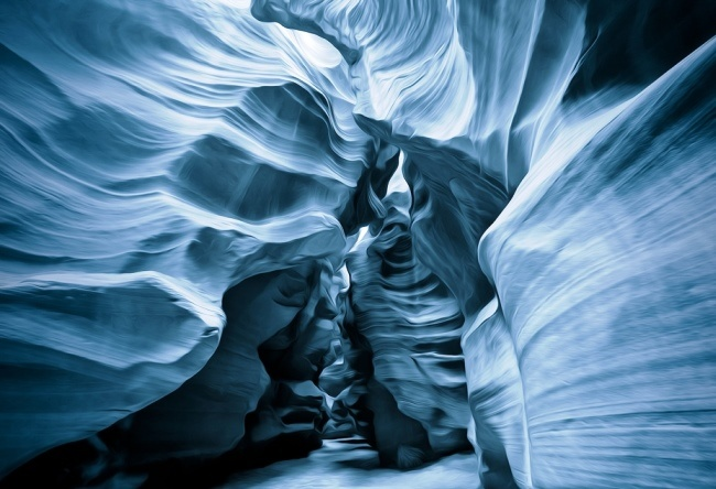 The territory of the Navajo. Antelope Canyon 2