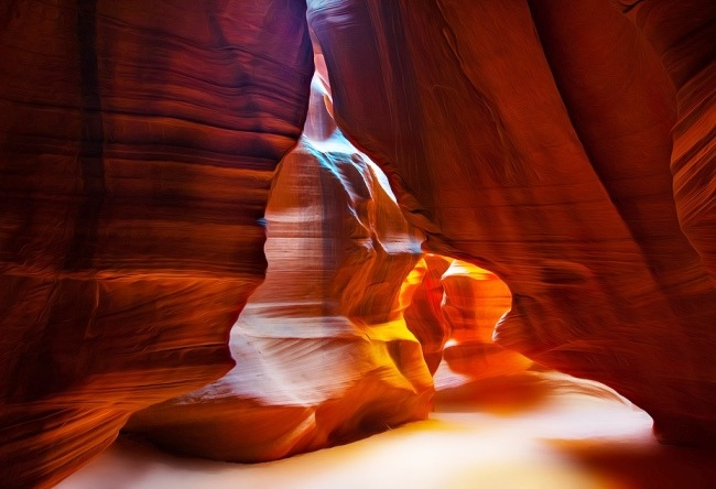 The territory of the Navajo. Antelope Canyon 3