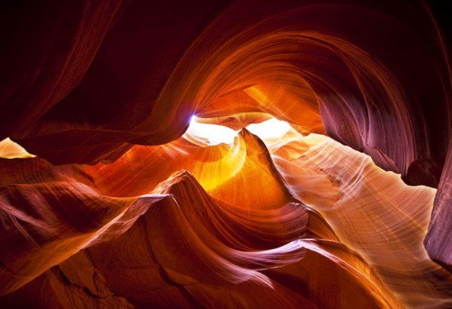 The territory of the Navajo. Antelope Canyon 4