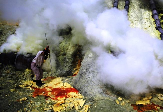 Ископаемые вулкана Кава Иджен 2