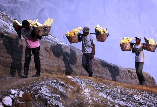 Ископаемые вулкана Кава Иджен 4