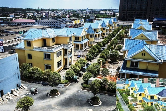 Коттеджи на многоэтажке в городе Хэнъян