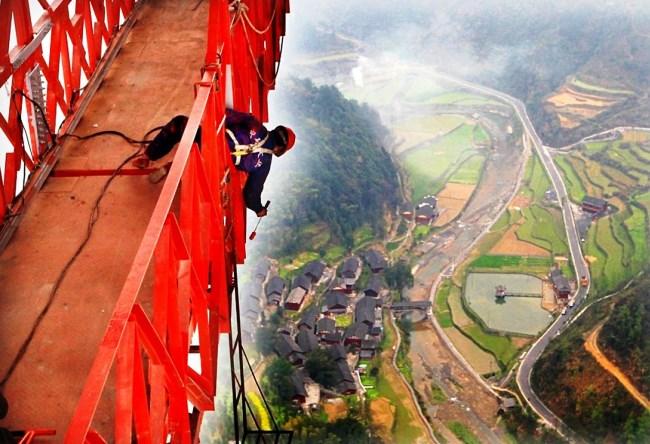 Мост Айчжай  самый длинный подвесной мост в мире 4