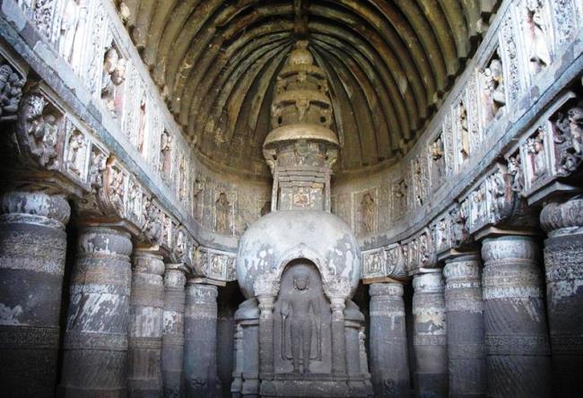 Пещерный буддийский комплекс Аджанта 5