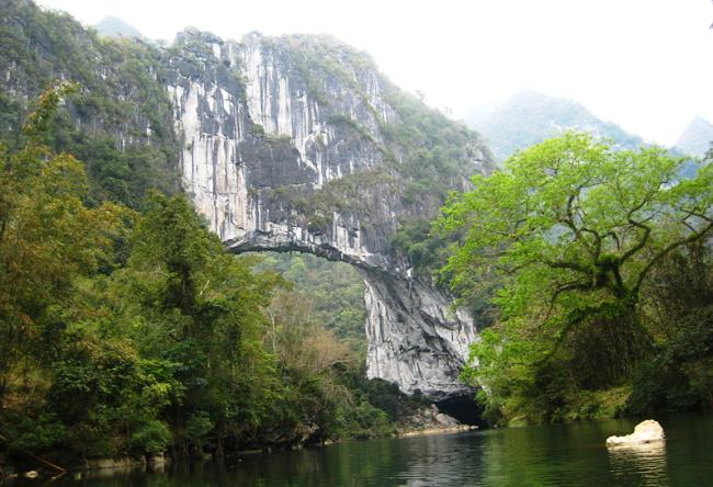 Fairy Bridge через Buliu  карстовый мост Феи в Гуасин 5