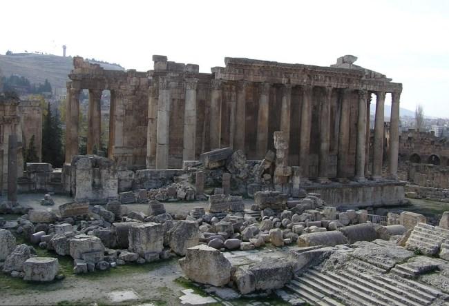 Ливан, храм в Баальбеке, построенный Юпитером