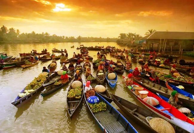 Плавучий рынок Банджармасин 3 1486.аз