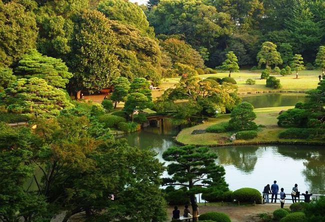 Поэтичный сад Rikugien в Токио 2