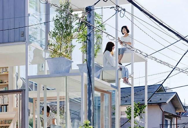 Прозрачный дом в Токио 2