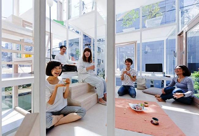 Прозрачный дом в Токио 3