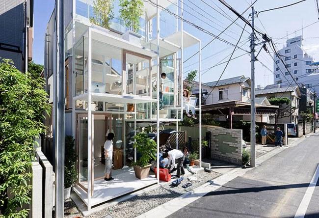 Прозрачный дом в Токио 5