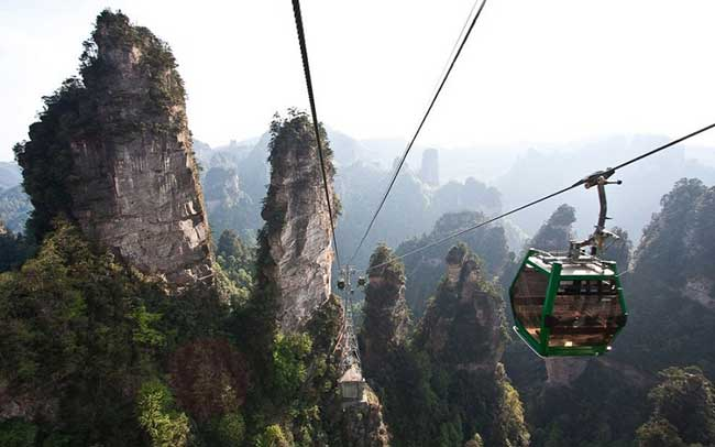Transport in the park Zhangjiajie