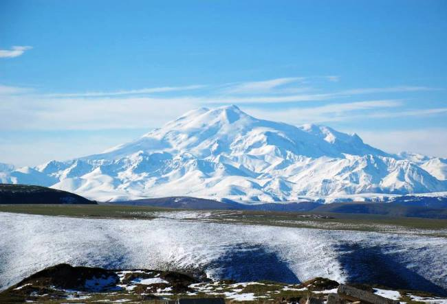 Mount Elbrus layered is the highest peak in Europe 2