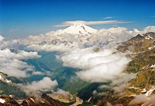 Mount Elbrus layered is the highest peak in Europe 3