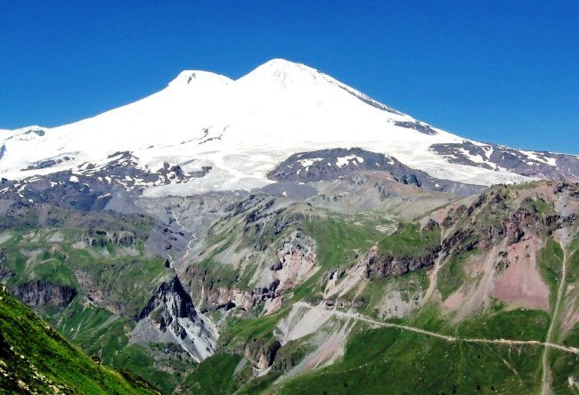 Mount Elbrus layered is the highest peak in Europe 5