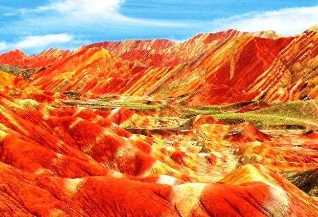 Multicolored rock Zhang Danks 2