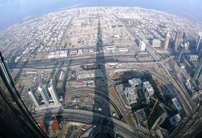 Real skyscraper Burj Khalifa 3