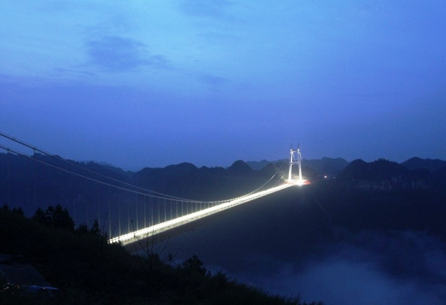 Aizhai Bridge is the longest suspension bridge in the world 3