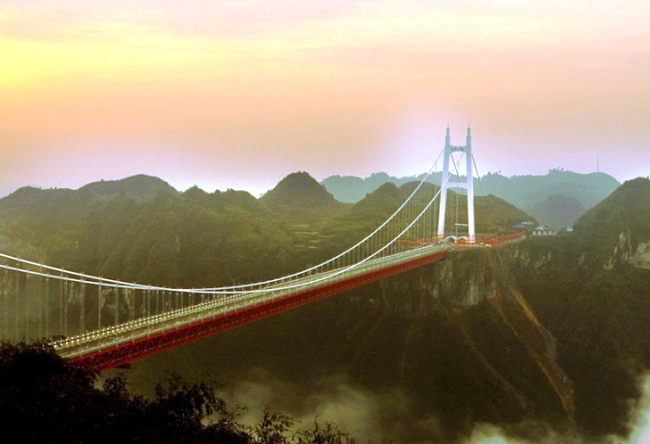 Aizhai Bridge is the longest suspension bridge in the world 5