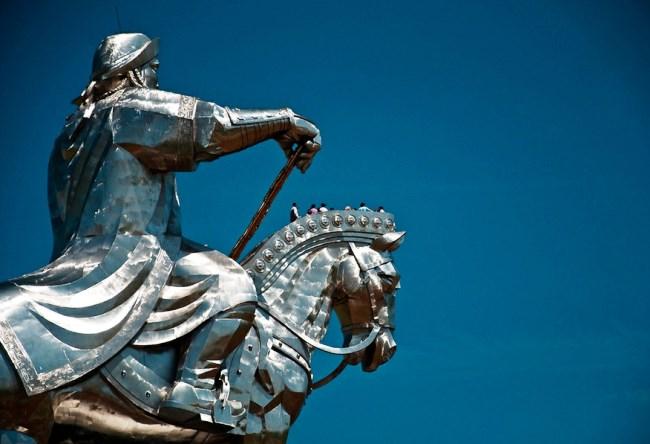 Statue of Genghis Khan near Ulaanbaatar 4