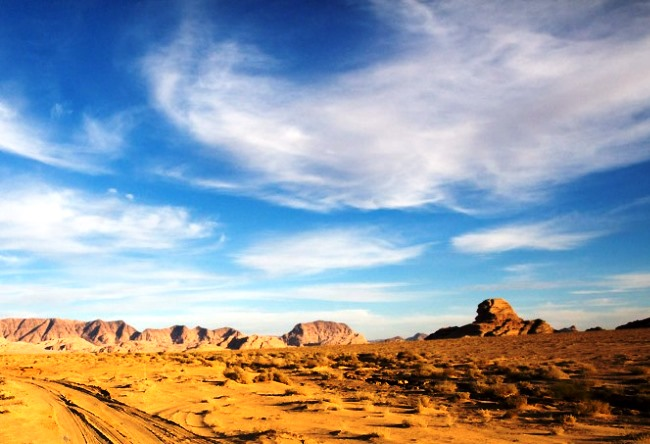 Moonlight desert of Wadi Rum 3