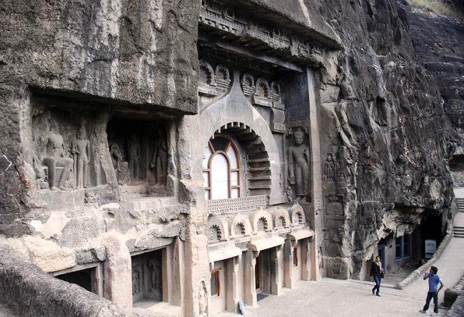 The cave complex of Buddhist Ajanta 4