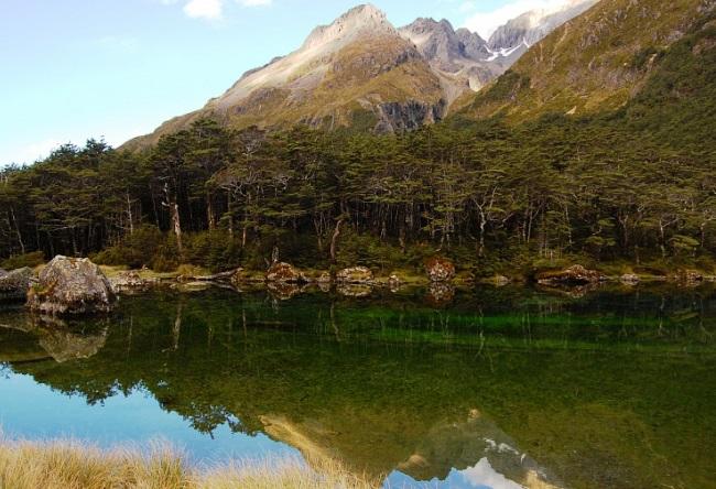 Новая Зеландия кристальное озеро Blue Lake 2