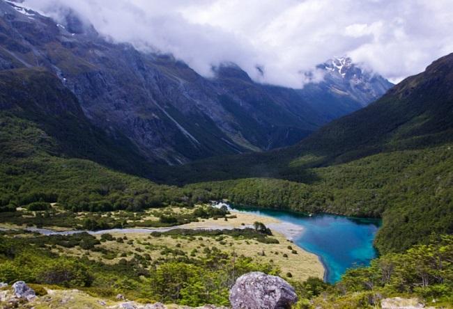 Новая Зеландия кристальное озеро Blue Lake 3