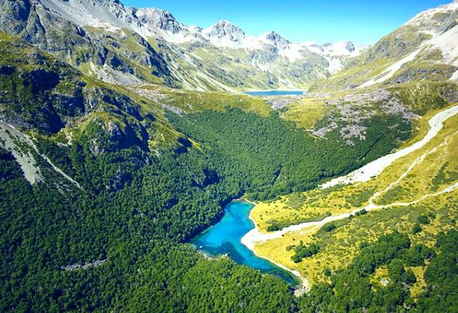Новая Зеландия кристальное озеро Blue Lake 4