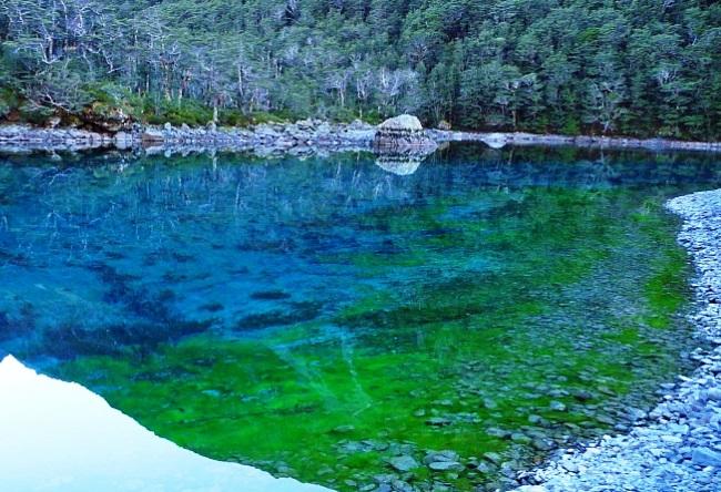 Новая Зеландия кристальное озеро Blue Lake 5