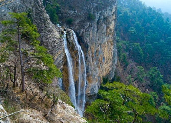 Курорты Европы Крым водопад Учан-Су 2