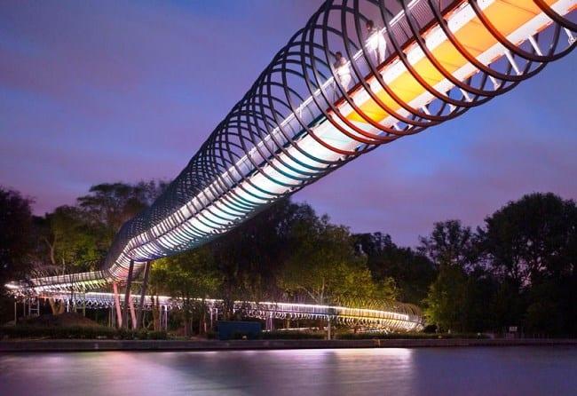Спиральный мост в городе Оберхаузен 3