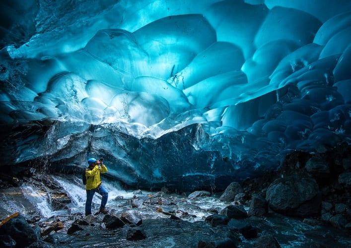 Ледяная пещера ледника Менденхолл 5