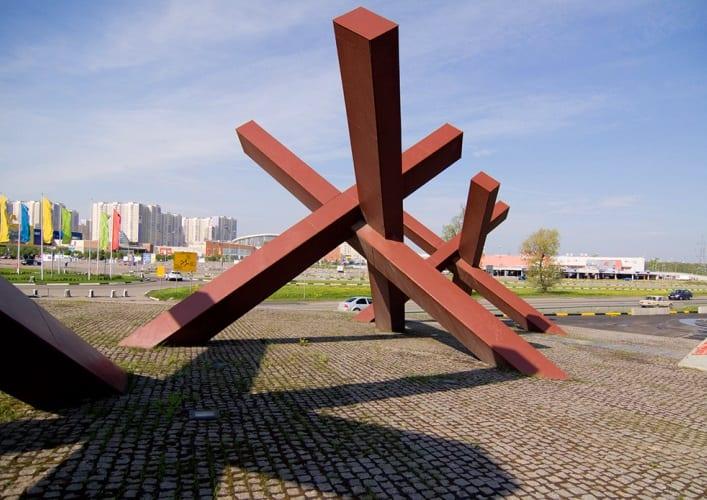 Монумент защитникам Москвы Ежи 4