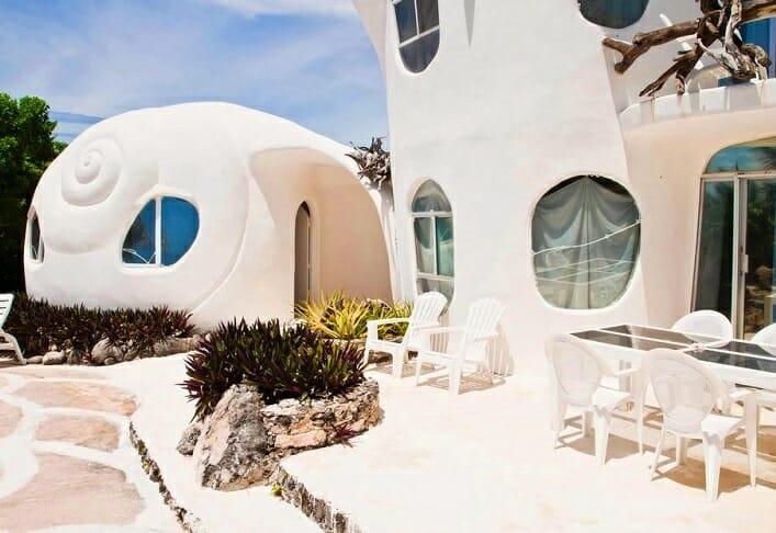 Дом ракушка на острове Исла Мухерес 3