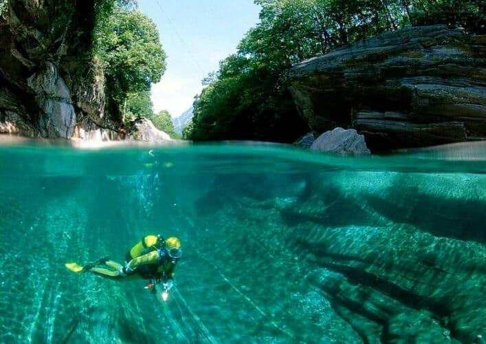 Верзаска самая прозрачная река в мире 3