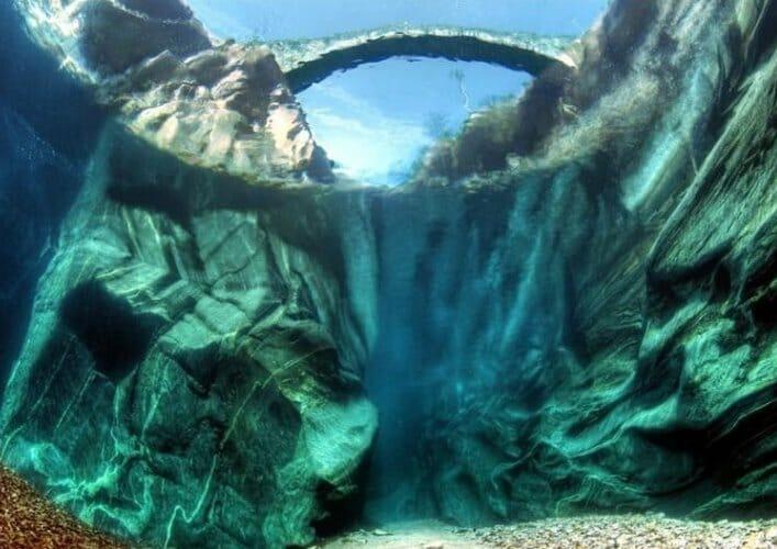 Верзаска самая прозрачная река в мире 5