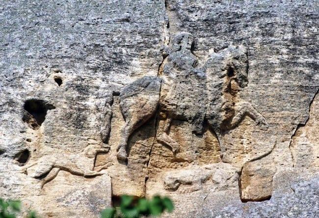 Болгария петроглиф Мадарский всадник 5