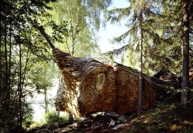 Раздвижной дом в Шведском заповеднике