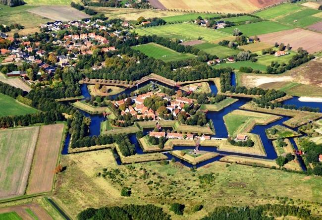 Крепость Bourtange в форме звезды 2