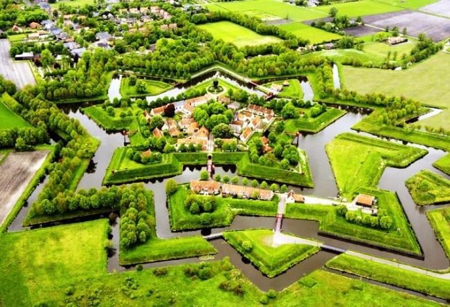 Крепость Bourtange в форме звезды 3
