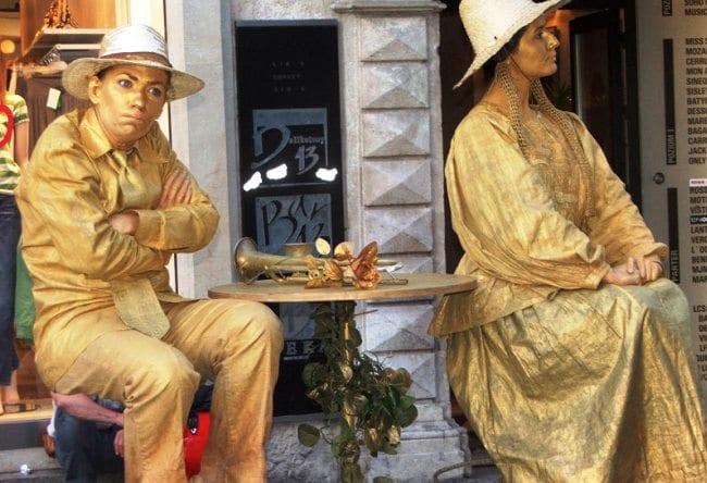 Живые статуи Барселоны 2
