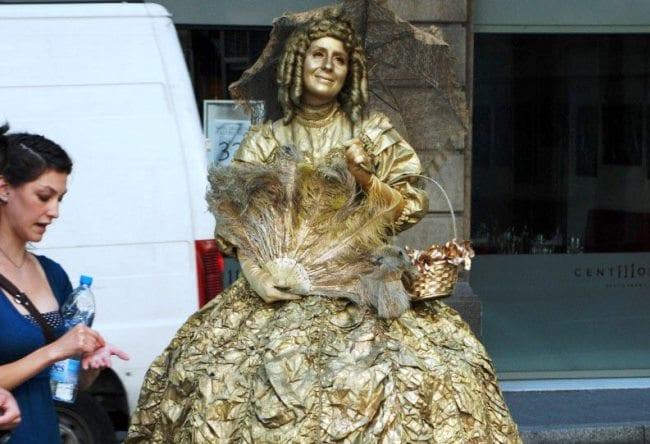 Живые статуи Барселоны 4