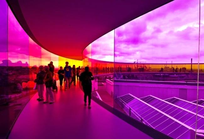 Музей ARos с удивительным строением на крыше 2