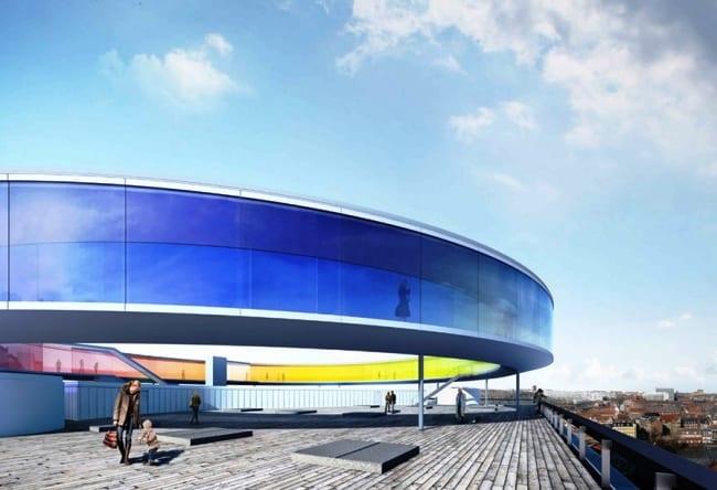 Музей ARos с удивительным строением на крыше 5
