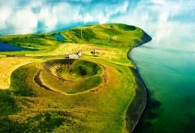 Псевдократеры и исландское озеро Миван 2